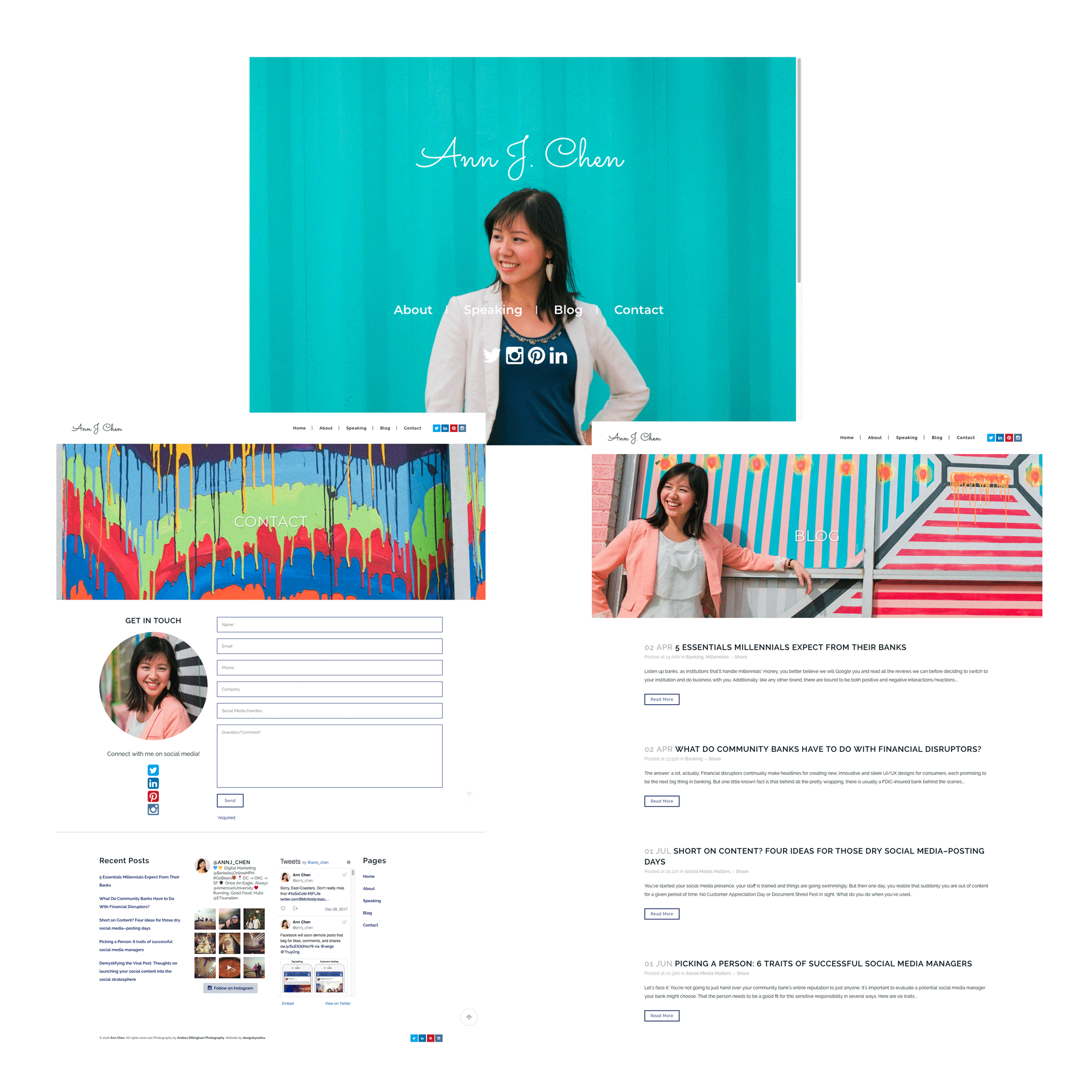 ann chen website screenshots